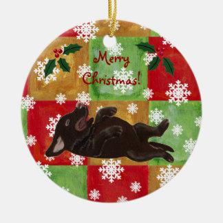 Personalized Chocolate Labrador Christmas Christmas Ornament