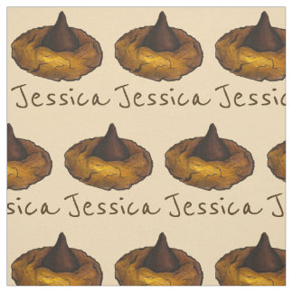 Personalized Chocolate Peanut Butter Cookie Fabric