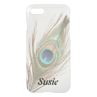 Personalized Choose Color Peacock Feather iPhone 8/7 Case