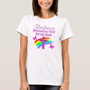 PERSONALIZED CHRISTIAN 90TH BIRTHDAY DESIGN T Shirt