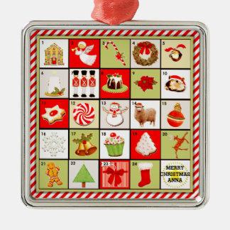 personalized Christmas Advent Calendar gift Christmas Ornament