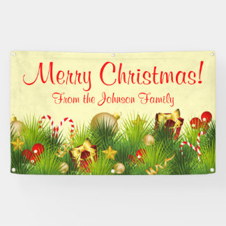 Personalized Christmas Banner Gifts Ornaments