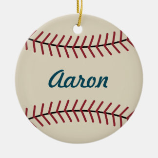 Personalized Christmas Baseball Sports Ornament