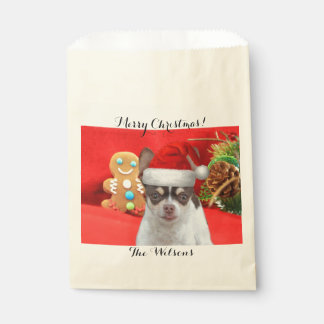 Personalized Christmas chihuahua treat bags Favour Bags