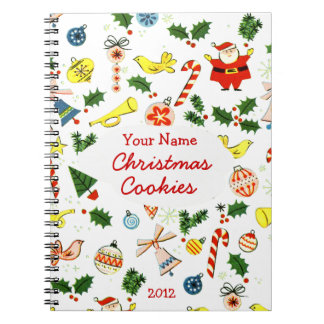 Personalized Christmas Cookie or Recipe Notebook