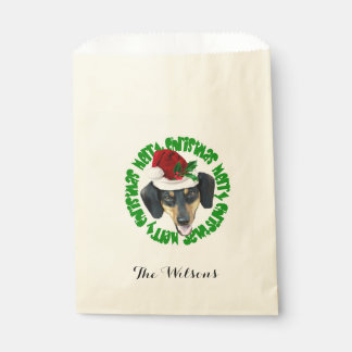 Personalized Christmas Dachshund treat bags