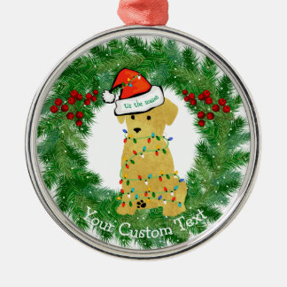 Personalized Christmas Golden Retriever Puppy Christmas Ornament
