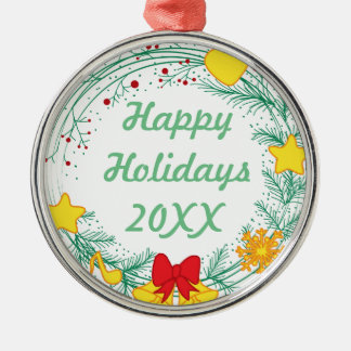 Personalized Christmas Happy Holidays Christmas Ornament
