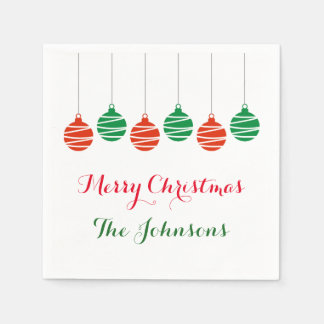 Personalized Christmas Holiday party napkins Disposable Napkin