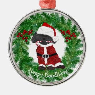 Personalized Christmas Labradoodle Santa Claus Christmas Ornament