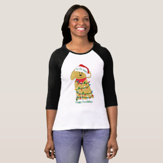 Personalized Christmas Lights Goldendoodle T-Shirt