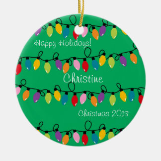 Personalized Christmas Lights Ornament
