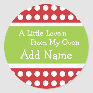 Personalized Christmas Love'n Sticker