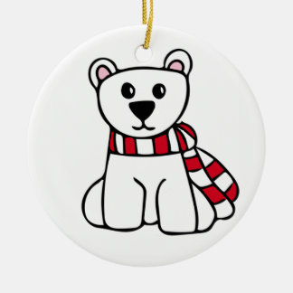 Personalized Christmas Ornament - Polar Bear