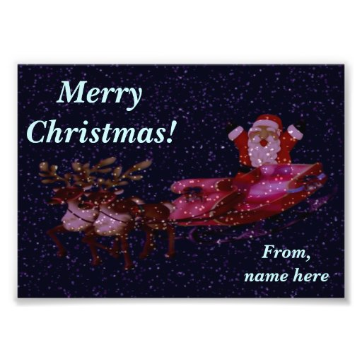 Personalized Christmas Photo Greeting with Santa