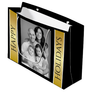 Personalized Christmas Photo Large Gift Bag