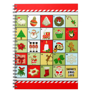 personalized Christmas planner Notebooks