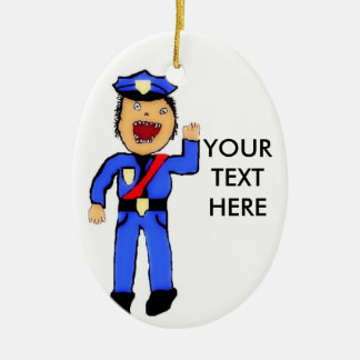 Personalized Christmas Policemen Christmas Ornament