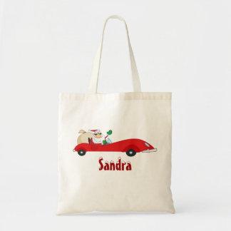 Personalized Christmas Santa Tote Bag