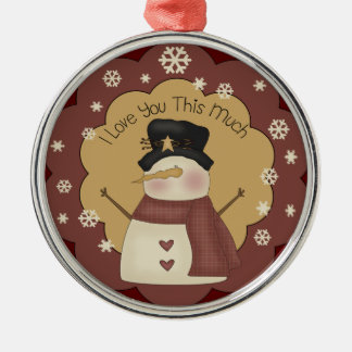 Personalized Christmas Snowman Love Ornament