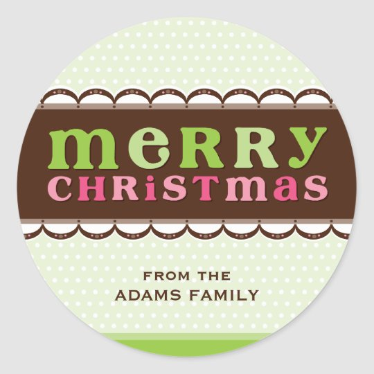 PERSONALIZED CHRISTMAS STICKER :: candyfloss 2