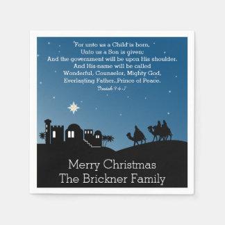 Personalized Christmas Wise Men Bethlehem Paper Napkins