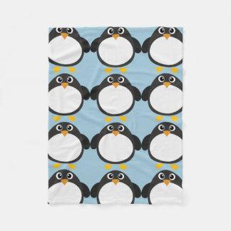 Personalized Chubby Penguin Fleece Blanket