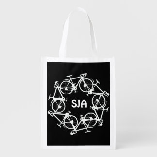 Personalized Circle of Cycles Design Reusable Tote