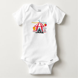 Personalized Circus Theme Birthday Baby Body Suit Baby Onesie