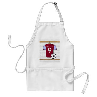 Personalized Claret Blue Football Soccer Jersey Standard Apron