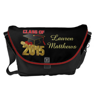 Personalized Class of 2015 Large Messenger Bag