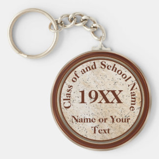 Personalized Class of Graduation, Reunion Gifts Basic Round Button Key Ring