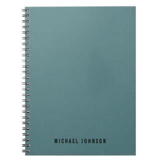 Personalized Classic Faux Linen Smalt Blue Notebook