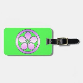 Personalized Classic Flower Shape in a Circle Luggage Tag