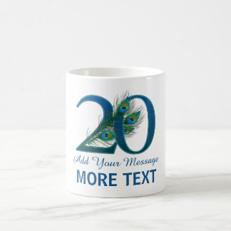 Personalized classy 20th birthday 20 mug