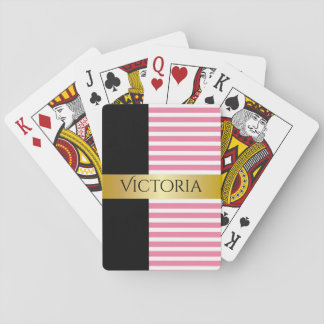 Personalized Classy & Girly Playing Cards