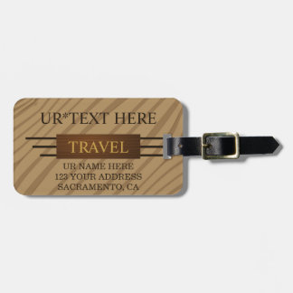 Personalized Classy Travel Luggage Tag