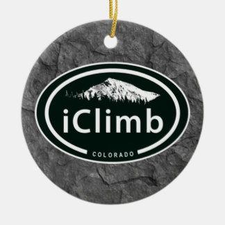 Personalized Climbing iClimb Colorado Mountain Christmas Ornament
