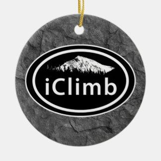Personalized Climbing iClimb Mountain Christmas Christmas Ornament