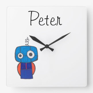 Personalized Clock for Kids - Robot Theme