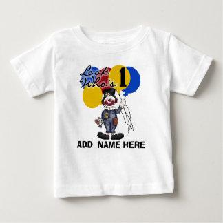 Personalized Clown 1st Birthday  Tshirt