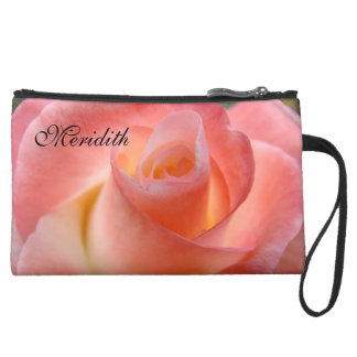 Personalized Clutch Add Your Name Pink Rose Wristlets