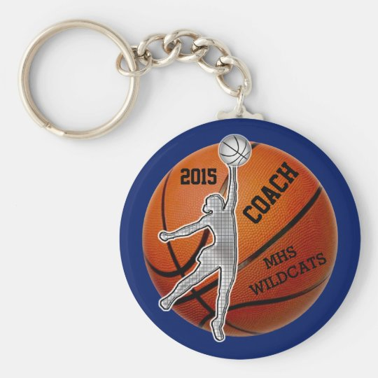 PERSONALIZED Coach and or Basketball Team Gifts Key