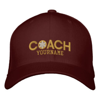Personalized Coach Golden Snowflake Embroidered Hats