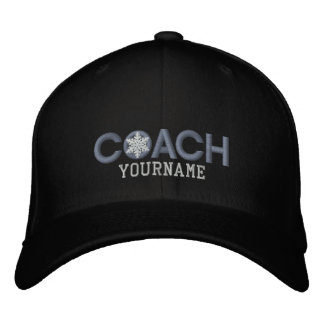 Personalized Coach Snowflake Design Embroidered Baseball Caps