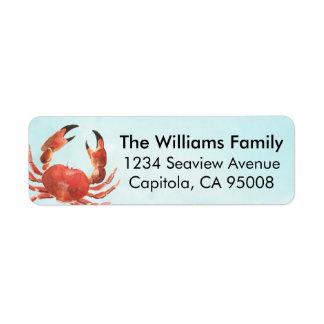 Personalized Coastal Crab