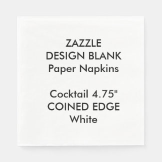 Personalized Coined Edge Cocktail Paper Napkins Paper Napkin