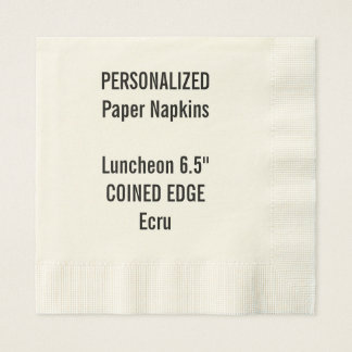 Personalized Coined Edge Luncheon Paper Napkins