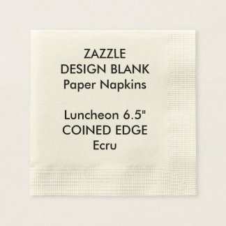 Personalized Coined Edge Luncheon Paper Napkins Disposable Napkin