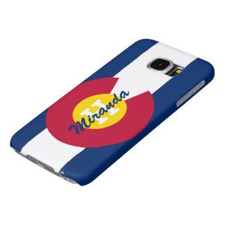 Personalized Colorado Flag Samsung Galaxy S6 Cases